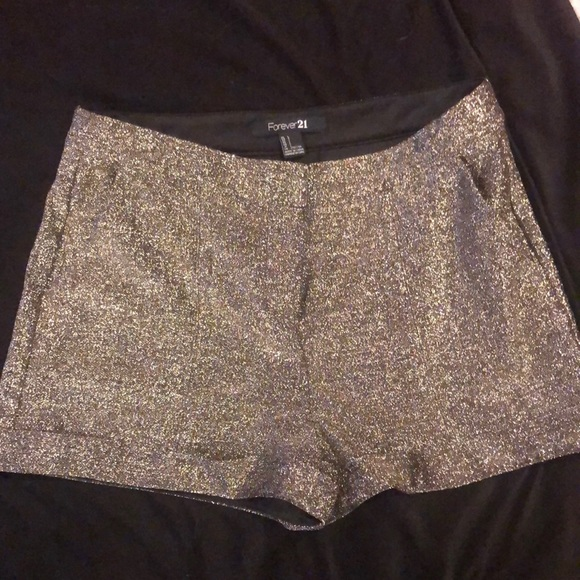 Silver Sparkly FOREVER 21 shorts